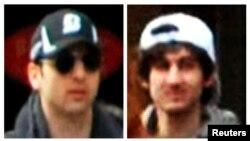 미국 FBI가 공개한 보스턴 테러 용의자들의 사진.