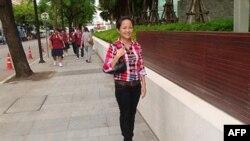 Cô Vũ Phương Anh, hình chụp trong những ngày còn tị nạn tại Thái Lan