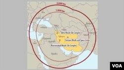 در گزارش مرکز بررسی های استراتژیک بین المللی برد موشک های ایران ذکر شده است