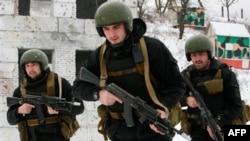 Бойцы спецназа МВД Чеченской республики РФ