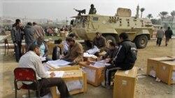 شمارش آرای نخستین دور انتخابات مجلس نمایندگان در قاهره، ۳۰ نوامبر ۲۰۱۱