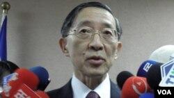台灣外長林永樂3月18日在立法院(申華拍攝)