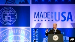 Vice President Joe Biden speaks at the Annual Conference of the Export-Import Bank in Washington.(AP Photo/Manuel Balce Ceneta)