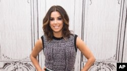 "FILE - In this Jan. 5, 2016, file photo, actress Eva Longoria participates in AOL's BUILD Speaker Series to discuss her new NBC comedy ""Telenovela,"" at AOL Studios in New York. Longoria is among several L'Oreal brand ambassadors participating in a ""WorthS"