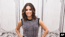 """FILE - In this Jan. 5, 2016, file photo, actress Eva Longoria participates in AOL's BUILD Speaker Series to discuss her new NBC comedy """"Telenovela,"""" at AOL Studios in New York. Longoria is among several L'Oreal brand ambassadors participating in a """"WorthS"""