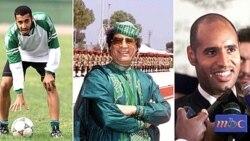 ساعدی قذافی (چپ) معمر قذافی (وسط)، سیف الاسلام قذافی