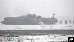 تصادم یک طیاره قرغزستان به زمین