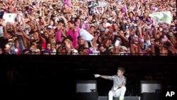 Justin Bieber visitó Ciudad de México como parte de su gira promocional Believe.