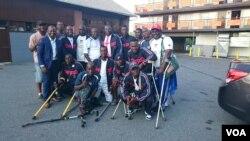 Members of the Liberia amputee team pose.