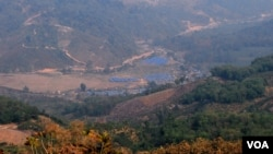 Camps de réfugiés de Kachin à la frontière entre la Chine et la Birmanie, 16 mars 2015.