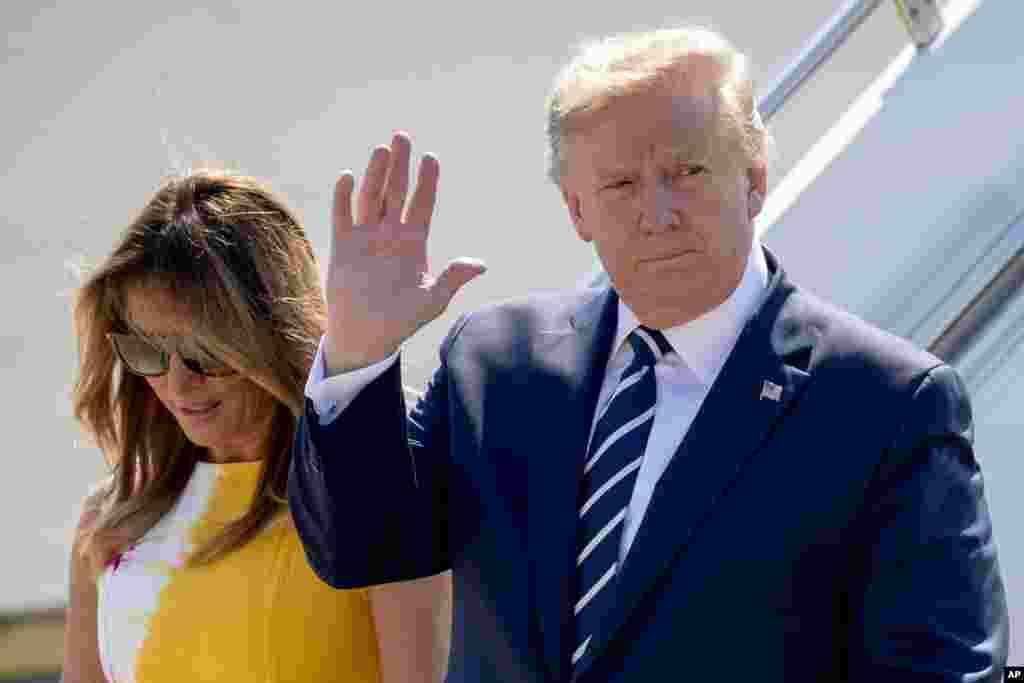 پرزیدنت ترامپ و بانوی اول آمریکا روز شنبه برای شرکت در اجلاس رهبران گروه هفت وارد فرانسه شدند.