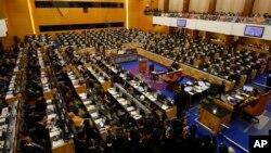 Suasana pengambilan sumpah para anggota Parlemen Malaysia di Kuala Lumut, 24 Juni 2013 (Foto: dok). Parlemen Malaysia menyetujui perubahan kontroversial pada UU Pencegahan Kejahatan tahun 1959, Kamis pagi (3/10).