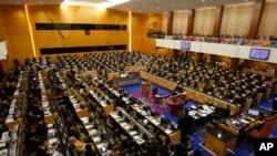 Các thành viên của Quốc hội Malaysia trong một phiên họp tại Kuala Lumpur.