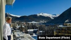 John Kerry à Davos, en Suisse, le 22 janvier 2016.