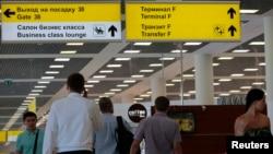 فرودگاه مسکو، جایی که ادوارد اسنودن روزهای اخیر را در آن پناه گرفته است.