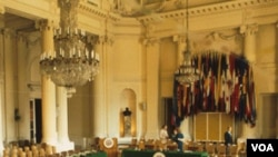 El Salón de las Américas de la OEA ha sido la sede de históricas conversaciones sobre temas de la región.