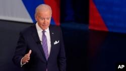 Predsjednik Joe Biden učestvuje u razgovoru sa biračima u organizaciji mreže CNN, u Baltimoru, 21. oktobra 2021.