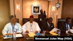 Les Gouverneurs du Cameroun lors du forum des gouverneurs à Yaoundé, le 10 juillet 2019. (VOA/Emmanuel Jules Ntap)