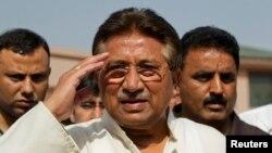 지난 4월 파키스탄 이슬라마바드에서 가택연금 중인 페르베즈 무샤라프 전 대통령. (자료사진)