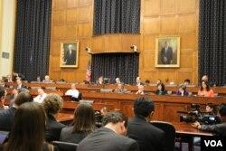 2015年1月13日,国会众议院外交委员会就朝鲜问题举行听证。(美国之音杨晨拍摄)