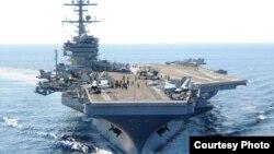 以美国前总统老布什命名的乔治•布什号航母(美国海军图片)