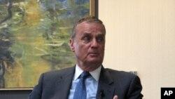 스팀슨센터에서 열린 간담회 이후 '미국의 소리 방송'과의 인터뷰를 가진 제임스 존스 전 백악관 국가안보보좌관