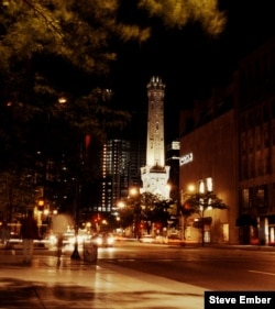 The Chicago Water Tower on the city's Magnificent Mile was one of the only buildings to survive the Great Chicago Fire of 1871. (Photo by Steve Ember)