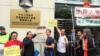 纪念世界人权日 香港团体集会关注黄琦母亲近况