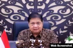 Menteri Koordinator Bidang Perekonoomian, Airlangga Hartarto. (Foto: VOA)