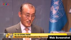 Tiến sĩ Kidong Park, Trưởng đại diện Tổ chức Y tế Thế giới (WHO) tại Việt Nam, phát biểu trên đài VTV hôm 06/04/2020. Photo VTV