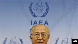 4일 IAEA 정기이사회에서 발언한 아마노 유키아 사무총장.
