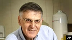 "A screen grab shows Israeli Daniel Shechtman from the Israel Institute of Technology in Haifa who won the 2011 Nobel Chemistry prize for the discovery of quasicrystals. His research ""has fundamentally altered how chemists conceive of solid matter,"" Octobe"