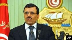 Tân Thủ tướng của Tunisia, ông Ali Larayedh, phát biểu tại một cuộc họp báo ở Tunis.
