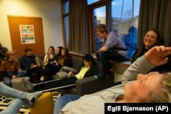 Teenagers gathered at the Tjornin youth center in Reykjavik. Iceland has changed a teenage culture of drinking and smoking by increasing participation in music and sports for students.