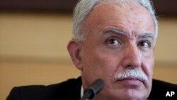 El canciller palestino espera ayuda de Venezuela para el reconocimiento de su país.