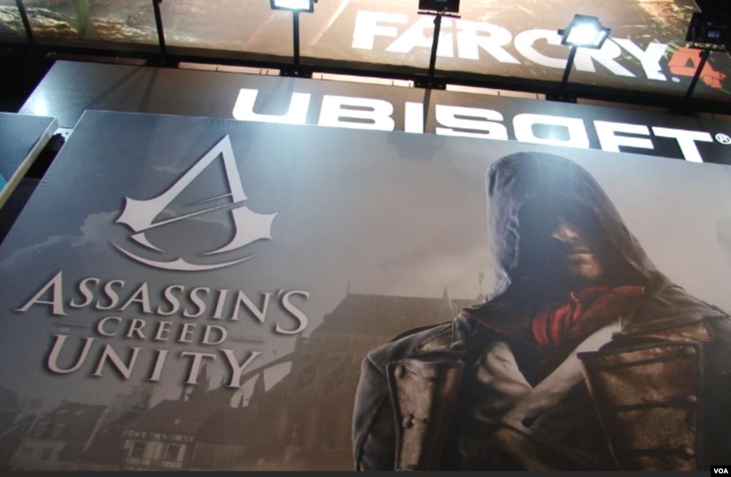 پوستر نسخه جدید بازی «اسسینز کرید» از شرکت یوبی سافت بنام «یونیتی.» این بازی تا کنون بیش از يک ميلیارد و ۴۰۰ ميليون یورو در دنیا فروش کرده است.