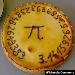 What better represents Pi than a round pie?