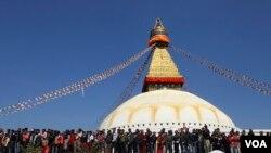 Biểu tình chống Trung Quốc ở Katmandu, Nepal.