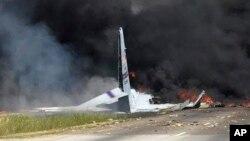 بقایای هواپیمای سی ۱۳۰ در ساوانای جورجیا