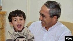 Mahmud Fəzli oğlu Atilla ilə birlidə