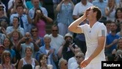 Andy Murray dari Inggris dalam sebuah pertandingan. (Foto: Dok)11