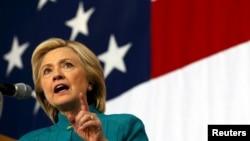 美國民主黨總統候選人提名的主要角逐者、前國務卿希拉里克林頓6月14日在愛荷華州開展競選活動。