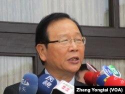 执政党国民党书记长林德福(美国之音张永泰拍摄)