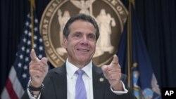 El gobernador de Nueva York, Andrew Cuomo durante una conferencia de prensa, el viernes 14 de septiembre de 2018, en Nueva York. Foto AP / Mary Altaffer