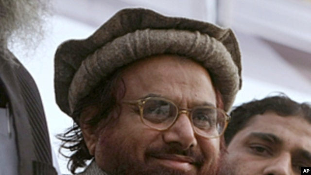 Hafiz Mohammad Saeed, the leader of a banned Islamic group Jamaat-ud-Dawa  is seen during an anti-Indian rally to show solidarity with Indian Kashmiris, in Lahore, Pakistan, February 5, 2010. (file photo)