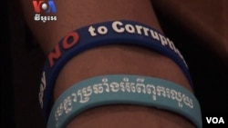 Transparency International Cambodia recently organized a ceremony for parties to pledge to fight against corruption.