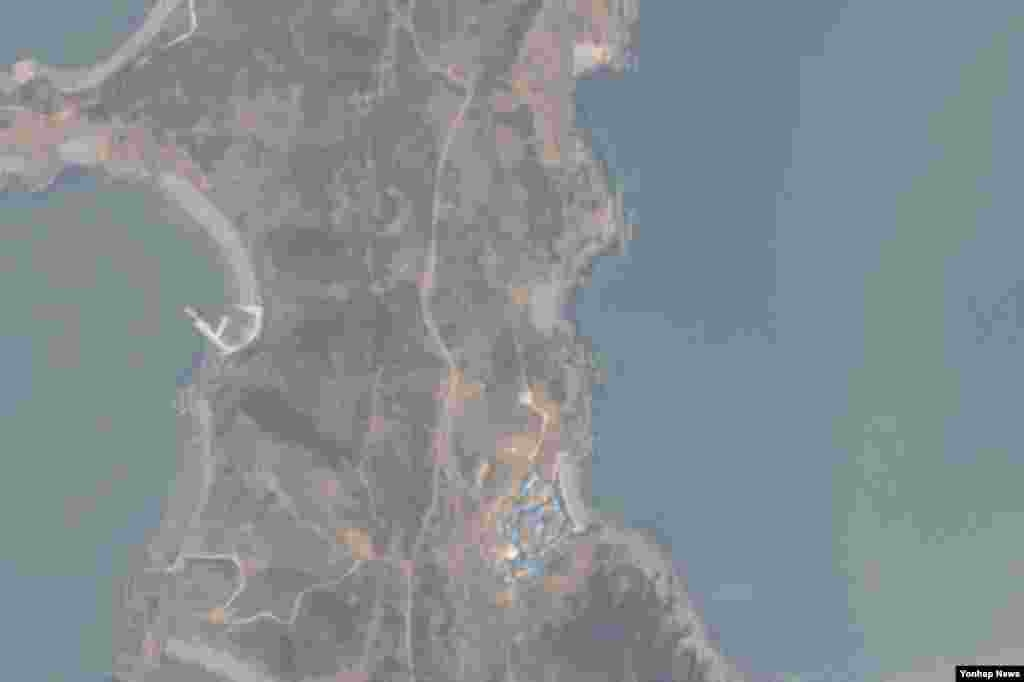 백령도에서 추락한 북한 발진 추정 무인기가 촬영한 소청도.