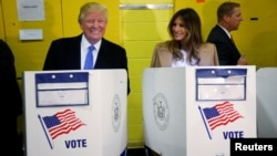 REUTERS Trumps Voting at PS 59 in New York, NY