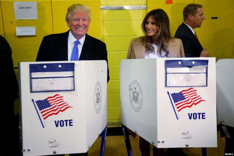 川普夫婦投票(2016年11月8日)
