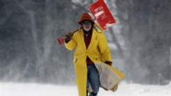 Shoveling snow in Brunswick, Maine
